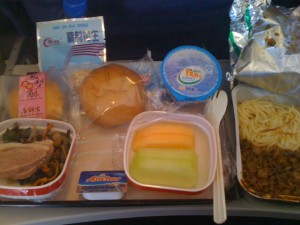 Lori took this photo of the [quite good] Chinese airplane food and we have nothing better to put here.