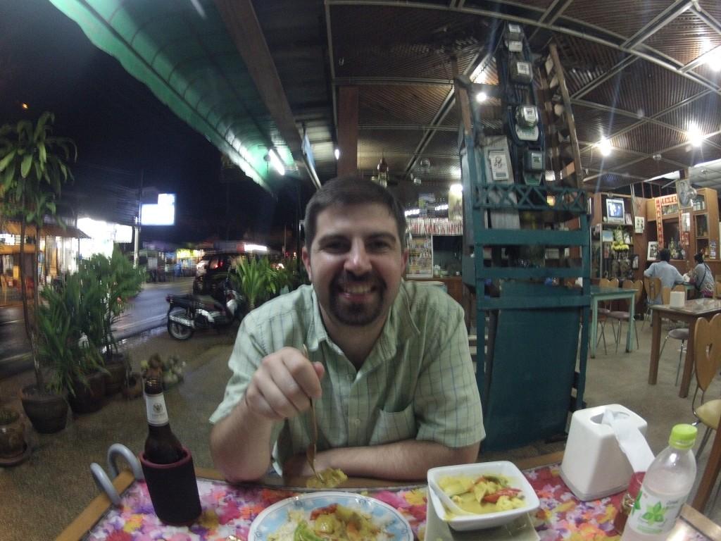 John eating Yellow Curry on Ko Samui