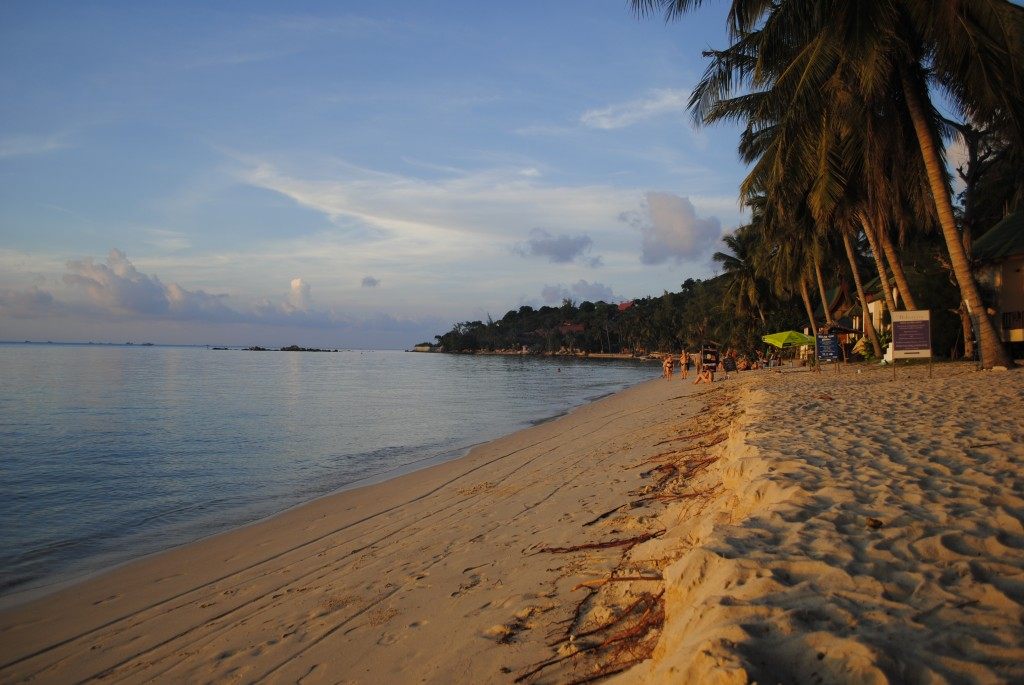 Chao Phao beach at sunset, Koh Phagnan