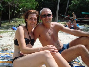 Steffi and Marco, beach