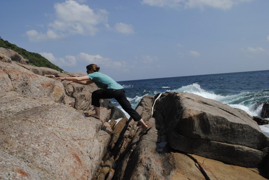 Climbing around