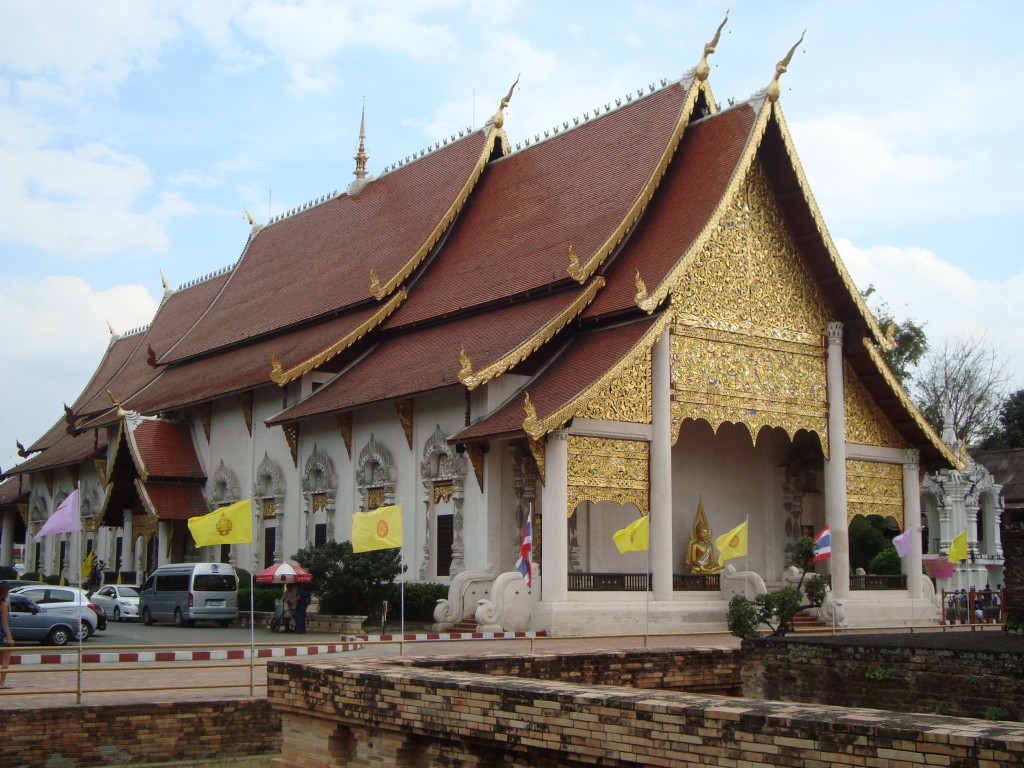Example of the Lanna architecture which is very common in Chiang Mai