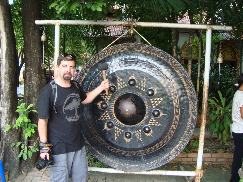 Large gong in the Wat Phra Singh complex