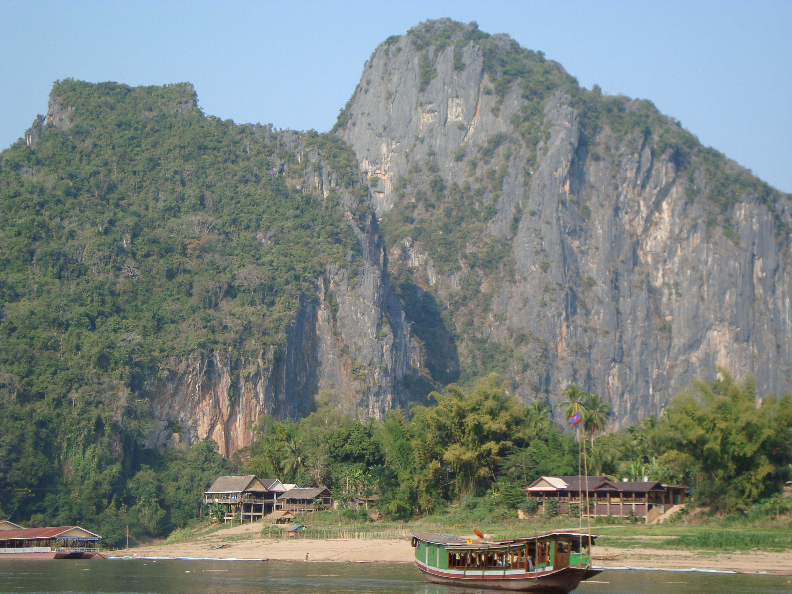 View along the Mekong River in Laos