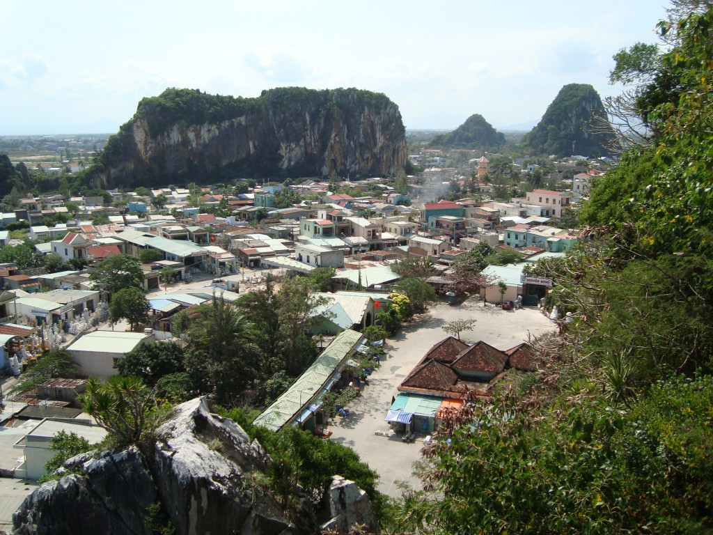 This is the view of several of the surrounding Marble Mountains from the one that is open to the public. There are five total.