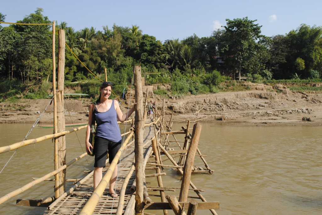 Bamboo bridge by day