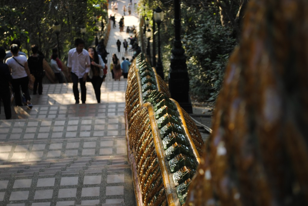 Looking down the stairs at Doi Suthep