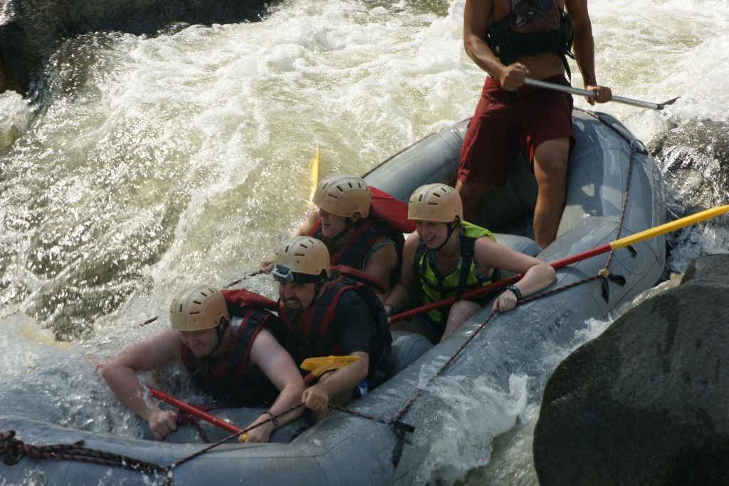 In the rapids!