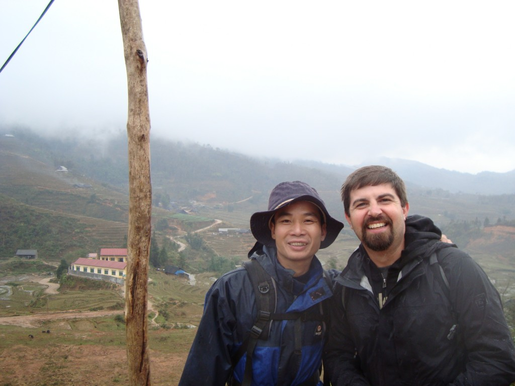 John with our trek guide, Won