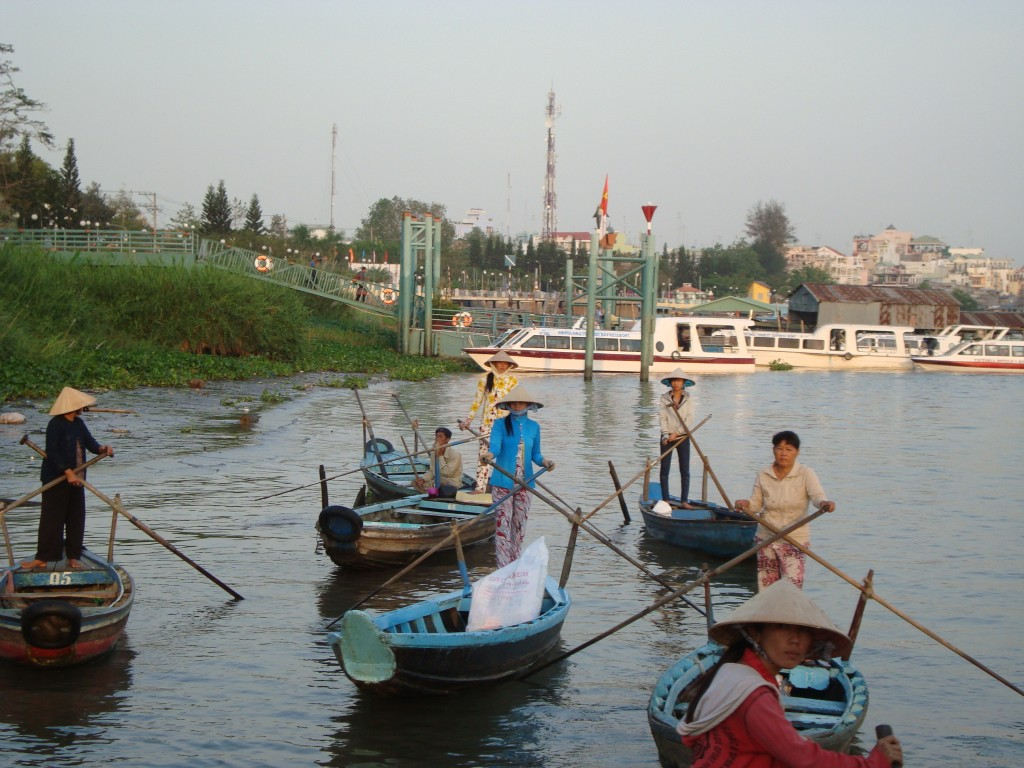 First boat en route from Chau Doc to Cambodian border.