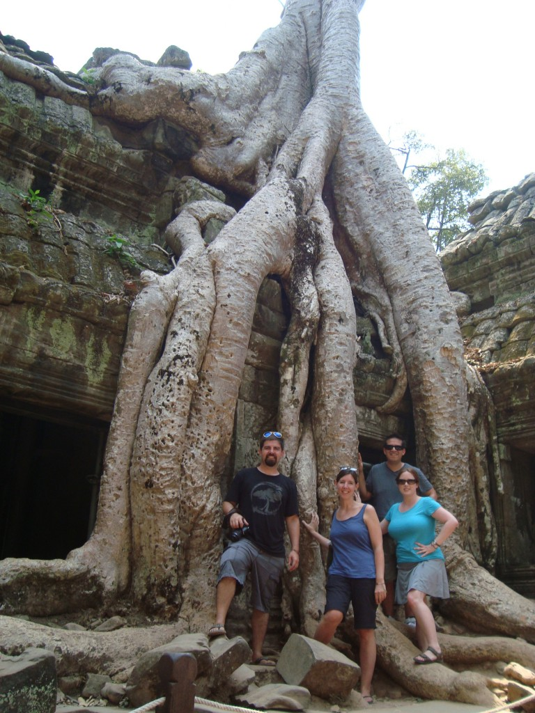 Inside Ta Phrom, aka The Tomb Raider, where said movie was filmed.