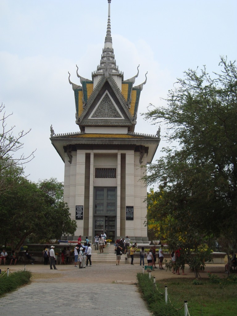Buddhist stuppa memorial at The Killing Fields
