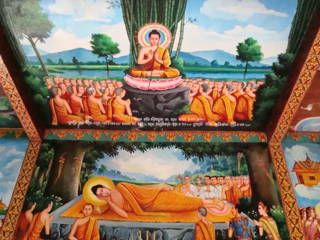 A mural near Phnom Sampeau