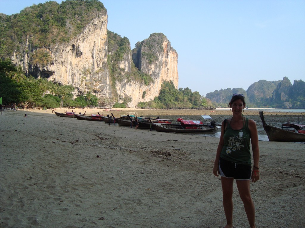 Tonsai Beach, next door to Railay where the more 'hardcore' climbers now go to escape the tourists on Railay.