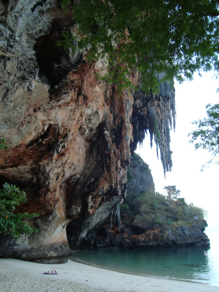 Phra Nang beach on Railay, where we happened upon after a very intense hike. We jumped right in for a swim.