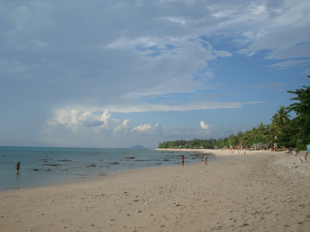 View down the beach on Ko Lanta