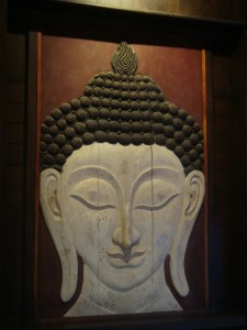 Nice Buddha painting in a nearby hotel